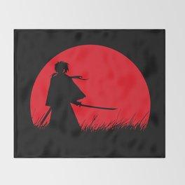 Samurai X Throw Blanket
