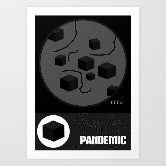 Pandemic - Black Art Print