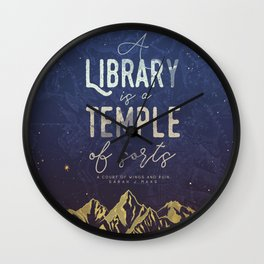 Library Temple Wall Clock