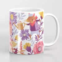 animal crew Mugs featuring The Garden Crew by Teagan White
