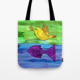 Fly & Swim Your Own Way Tote Bag