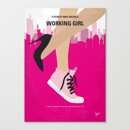No987 My Working Girl minimal movie poster Canvas Print