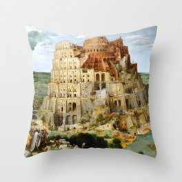 The Tower Of Babel Throw Pillow