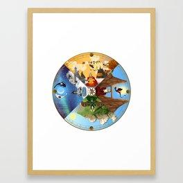 Cycle of the Seasons Framed Art Print