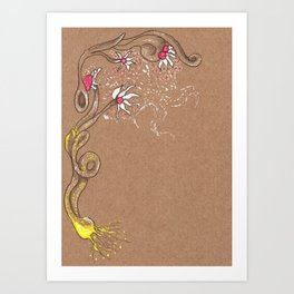 Moon pollination Art Print