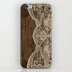 WOOD & LACE iPhone & iPod Skin