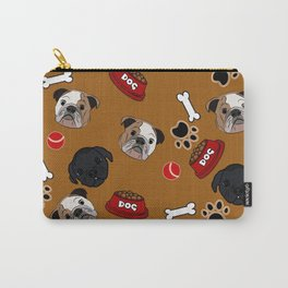 Dogs lovers bulldog and cat Carry-All Pouch
