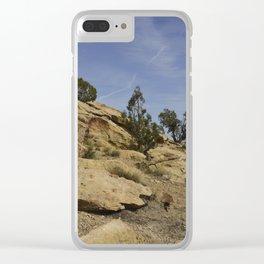 Rocky Utah Hill Clear iPhone Case