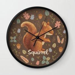 Squirrel Wall Clock