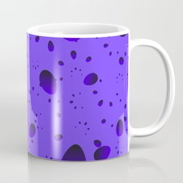 Large blueberry drops and petals on a light background in nacre. Coffee Mug