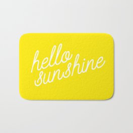 Hello Sunshine Script Bath Mat