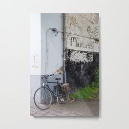 Blue Bicycle, Bruges Metal Print