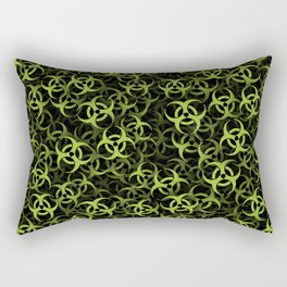 Biohazard (green on black) Rectangular Pillow
