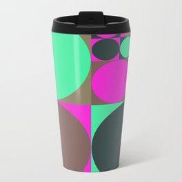 Squared Circles Metal Travel Mug