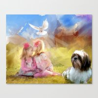 angels Canvas Prints featuring Angels by Rich Okun