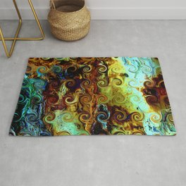 Colorful Wood Spirals Background #Abstract #Nature Rug