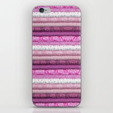 pink textured stripes iPhone & iPod Skin