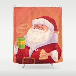 Santa on vacation Shower Curtain