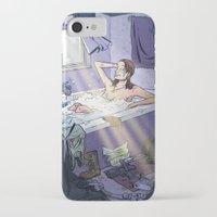 lara croft iPhone & iPod Cases featuring Lara Croft Reborn by Adrien ADN Noterdaem