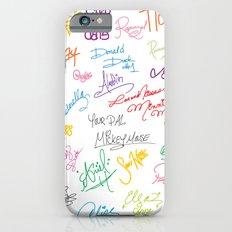 character autographs iPhone 6s Slim Case