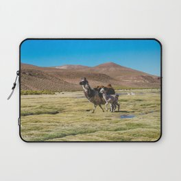 Mother and Baby Llama in Bolivia Laptop Sleeve