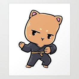 Cat children's sports karate martial arts gift Art Print