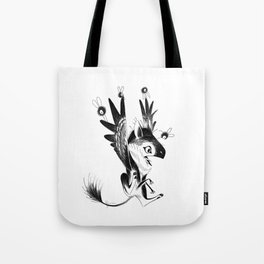 Flying lessons with flies Tote Bag