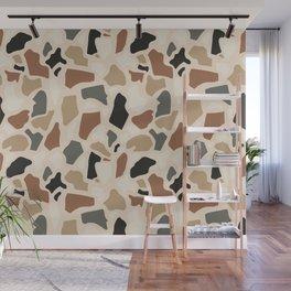 Abstract Terrazzo - Earth Tones Wall Mural