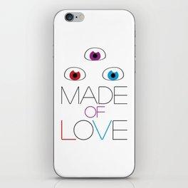 Made of love iPhone Skin