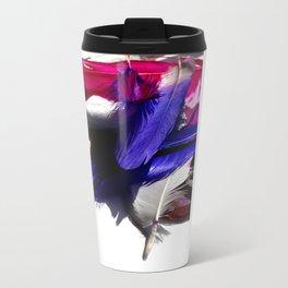 aztec florals Metal Travel Mug