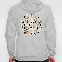 Patchwork Pattern in Coral, Mint, Black & White Hoody