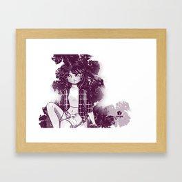 Morado y blanco Framed Art Print