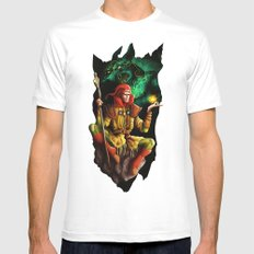 A wizard in the dark White MEDIUM Mens Fitted Tee