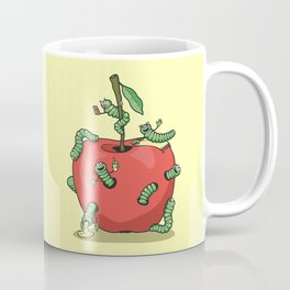 Funny worms in the apple  Coffee Mug