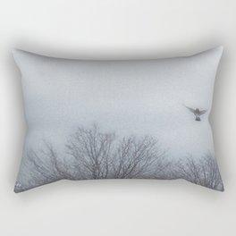 """""""Lori's First Robin"""" Rectangular Pillow"""