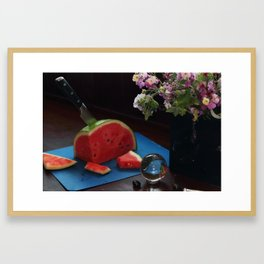 A Sacrifice of Watermelon Framed Art Print