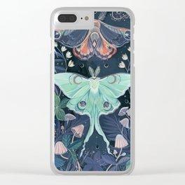 Luna Moth Clear iPhone Case