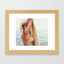 Sexy Surfer Framed Art Print