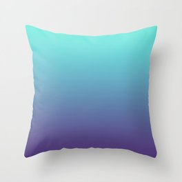 Ultra Violet Teal Ombre Gradient Pattern | Trendy color of the Year 2018 Throw Pillow