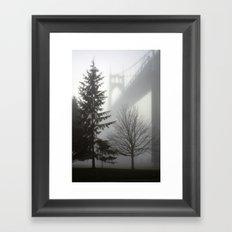 St. Johns Bridge in the fog Framed Art Print