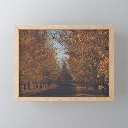 autumn drive Framed Mini Art Print