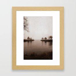 Winter's Breath is Here Framed Art Print