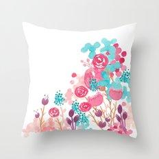Blush Blossoms Throw Pillow