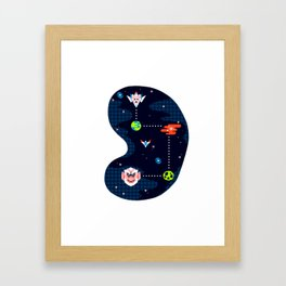 Overworld: Space Framed Art Print