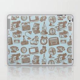 blue vintage pattern Laptop & iPad Skin