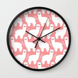 The Alpacas II Wall Clock