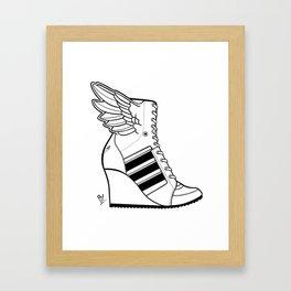 ADIDAS WINGED WEDGE SNEAKER BOOTIE Framed Art Print