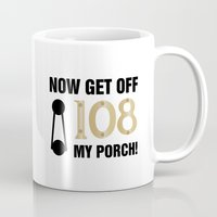 regina mills Mugs featuring Regina Sassy Mills | Get off my porch by CLM Design