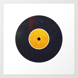 Vinyl Record Star Sign Art | Leo Art Print