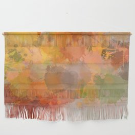 Modern contemporary Yellow Orange Abstract Wall Hanging